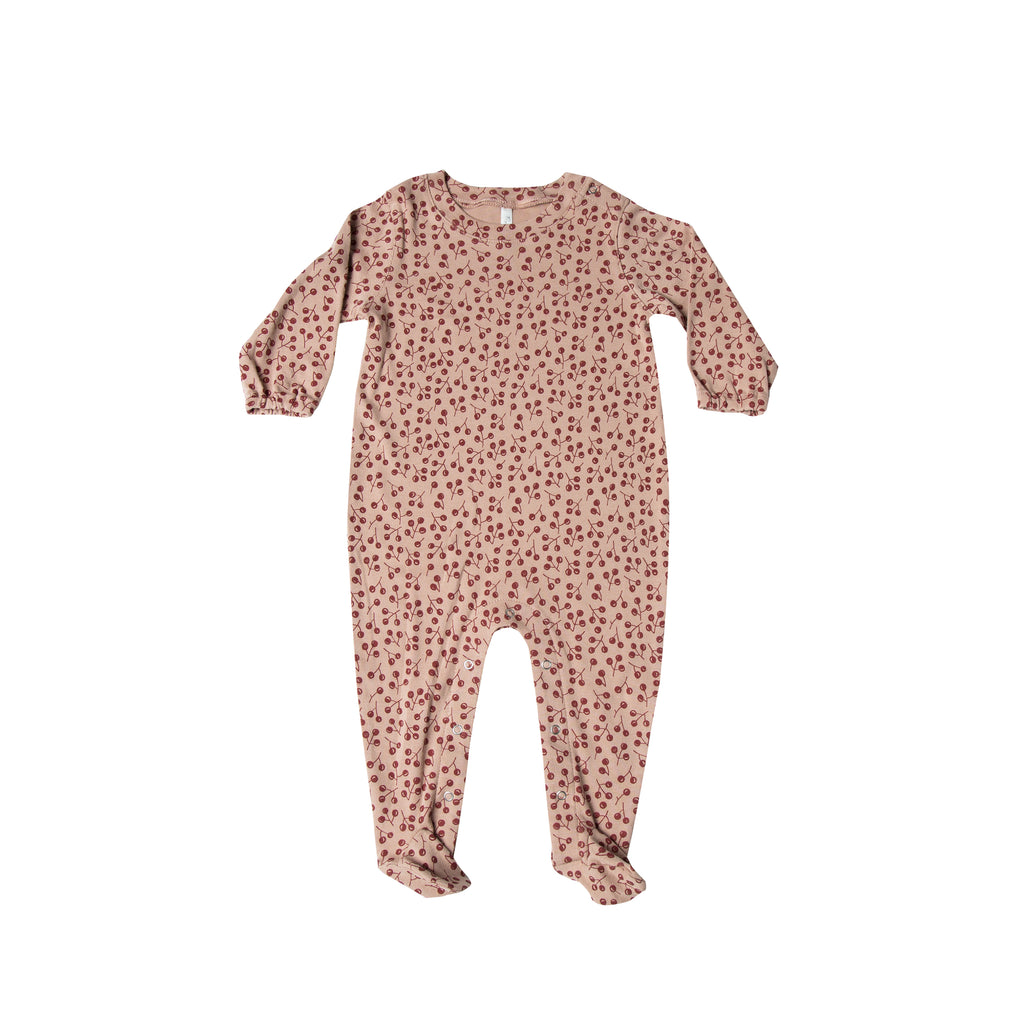 Winter Berry Footed Onesie
