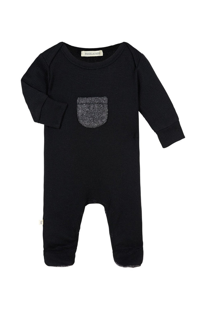 Baby Romper with Footie Lava Black