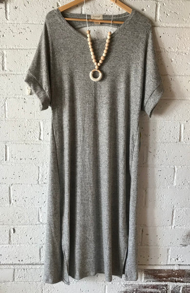 Shandon Dress in Heather Grey