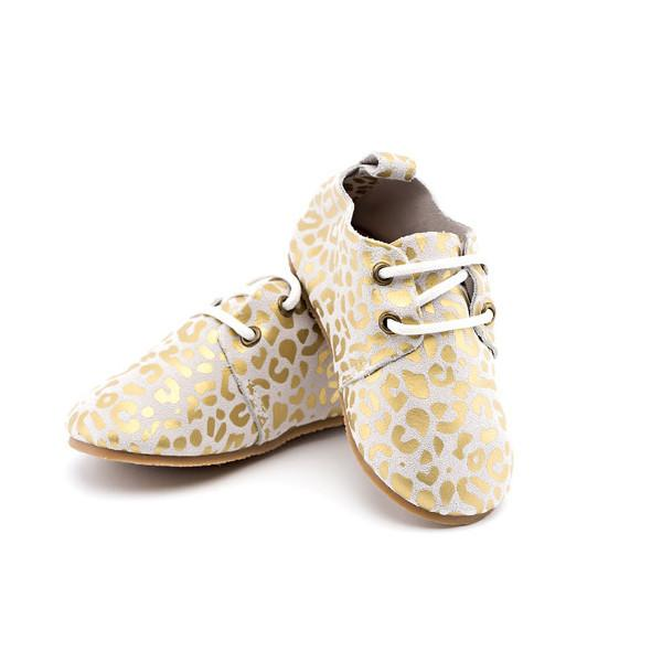 Gold Leopard Hard-Sole Shoe