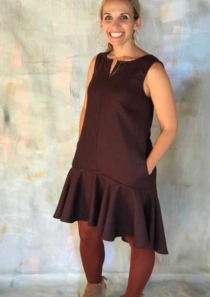 Mary Dress in Plum