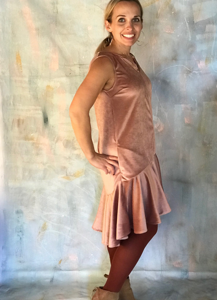 Mary Dress in Rose