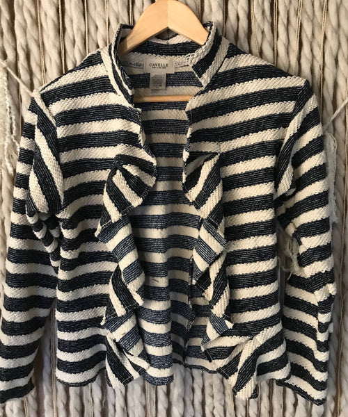 Beth Coat in Stripe