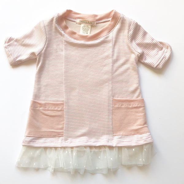 Ani Dress in Blush Stripe - Baby