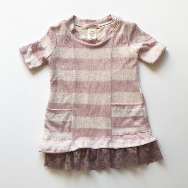 Ani Dress in Lilac Stripe - Baby