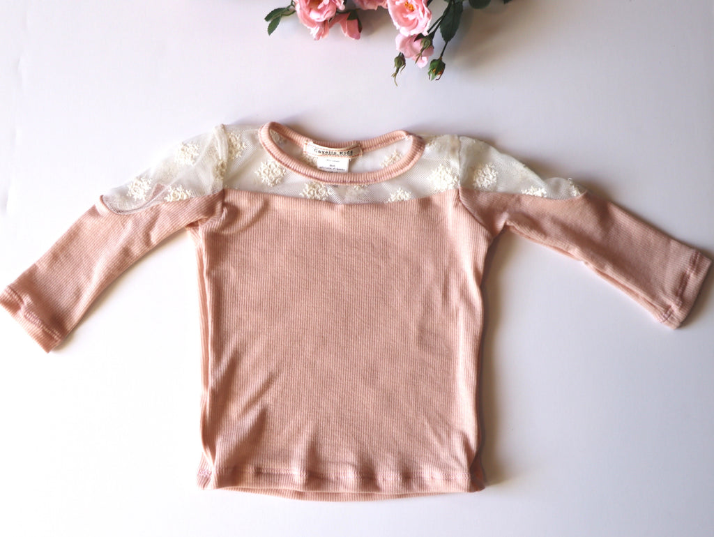 Mia Top in Blush Baby