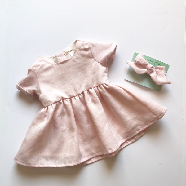 Emmy Dress in Pink Sparkle ~ Baby