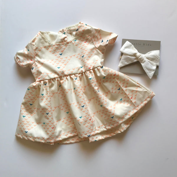 Emmy Dress in Triangle Print ~ Baby