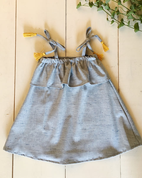 Tassel Dress in Chambray