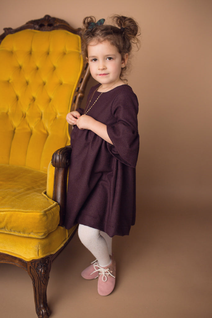Harlow Dress in Eggplant
