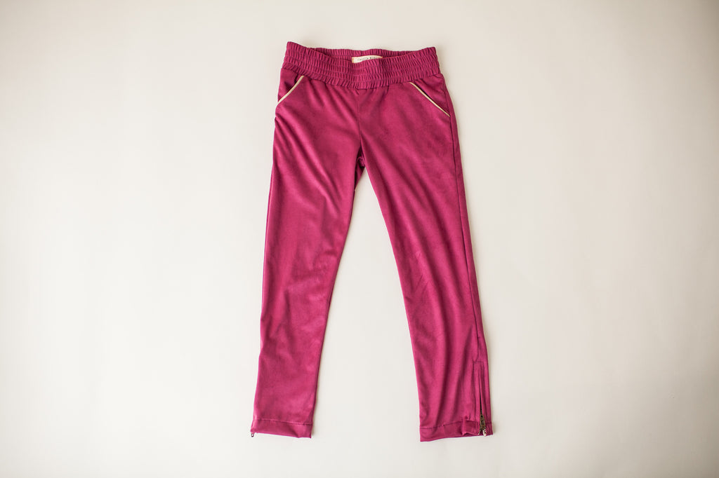 Riding Trousers in Magenta