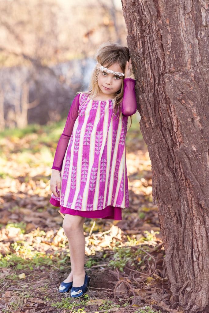 Layer Swing Dress in Berry
