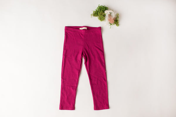 Jersey Leaping Leggings in Berry