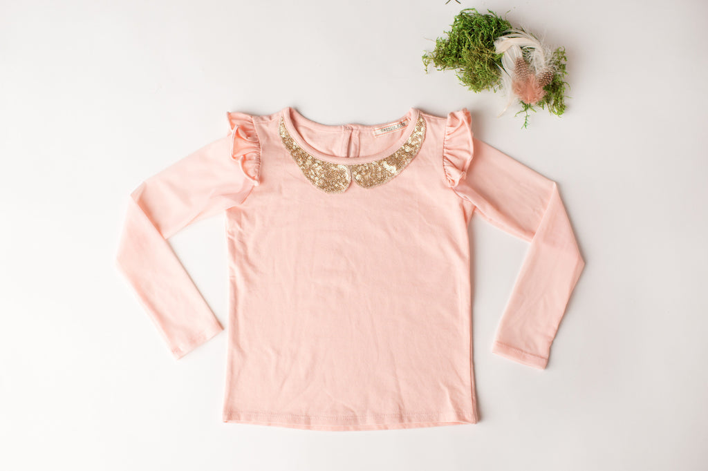 Shimmer Top in Blush