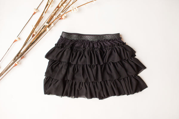 Ruffle Tulle Tutu in Black