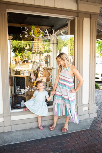 Liz Dress in Baja Stripe