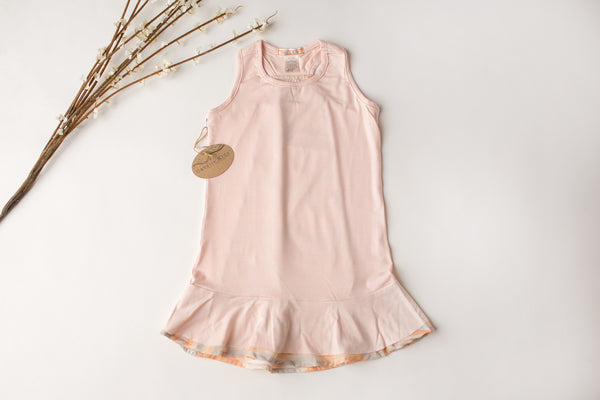 Comfy Racerback Dress in Peach