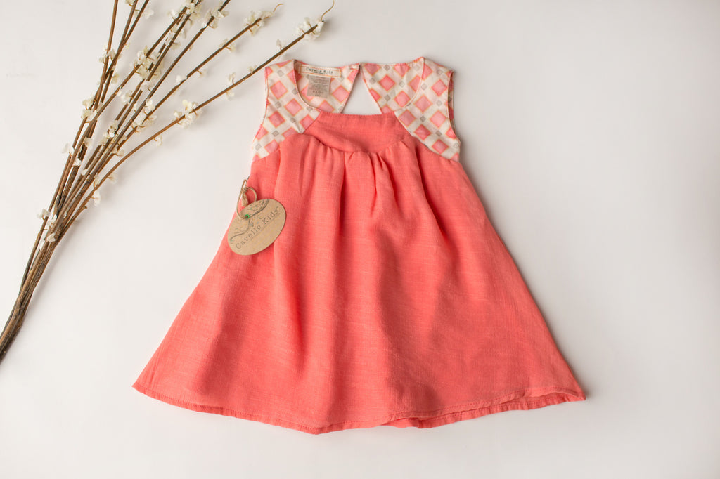 Once Upon A Time Dress in Coral