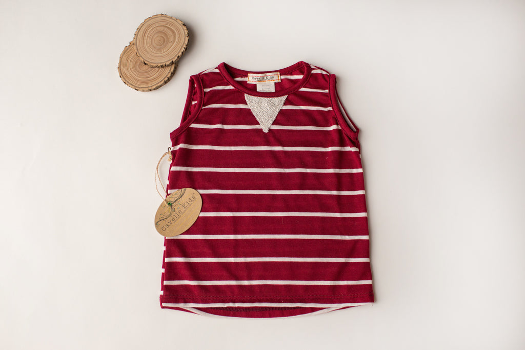 Too Hot Tank in Rust Stripe