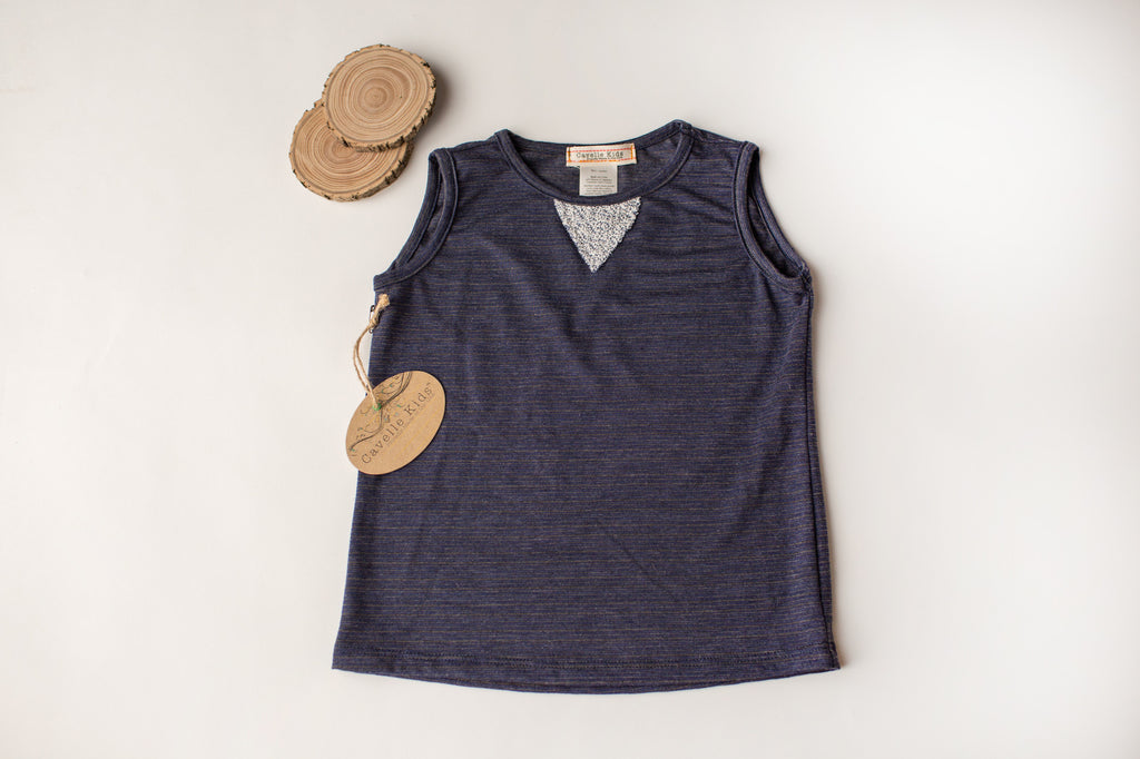 Too Hot Tank in Blue Stripe