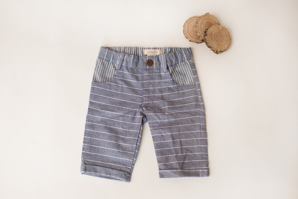 Cub Shorts in Indigo Stripe