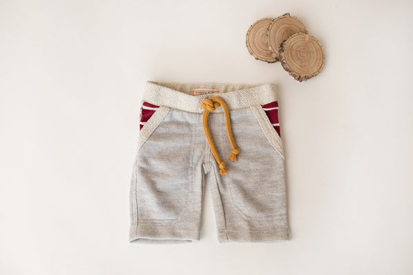 Cozy Bear Shorts in Grey