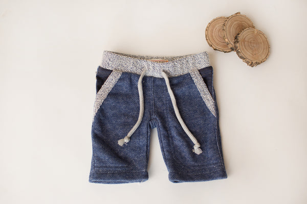 Cozy Bear Shorts in Denim