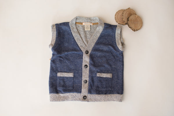 Wee Bear Vest in Denim