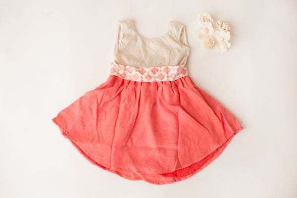 Wanderlust Dress in Coral