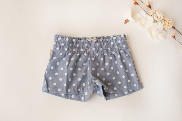 Cottage Shorts in Blue Dot