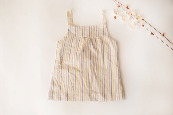 Wee Button Back Top in Stripe