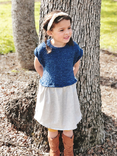Abby Dress in Sapphire ~ Baby