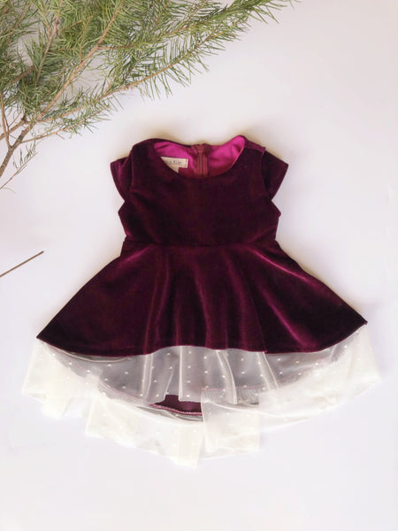 Taylor Dress in Berry ~ Baby