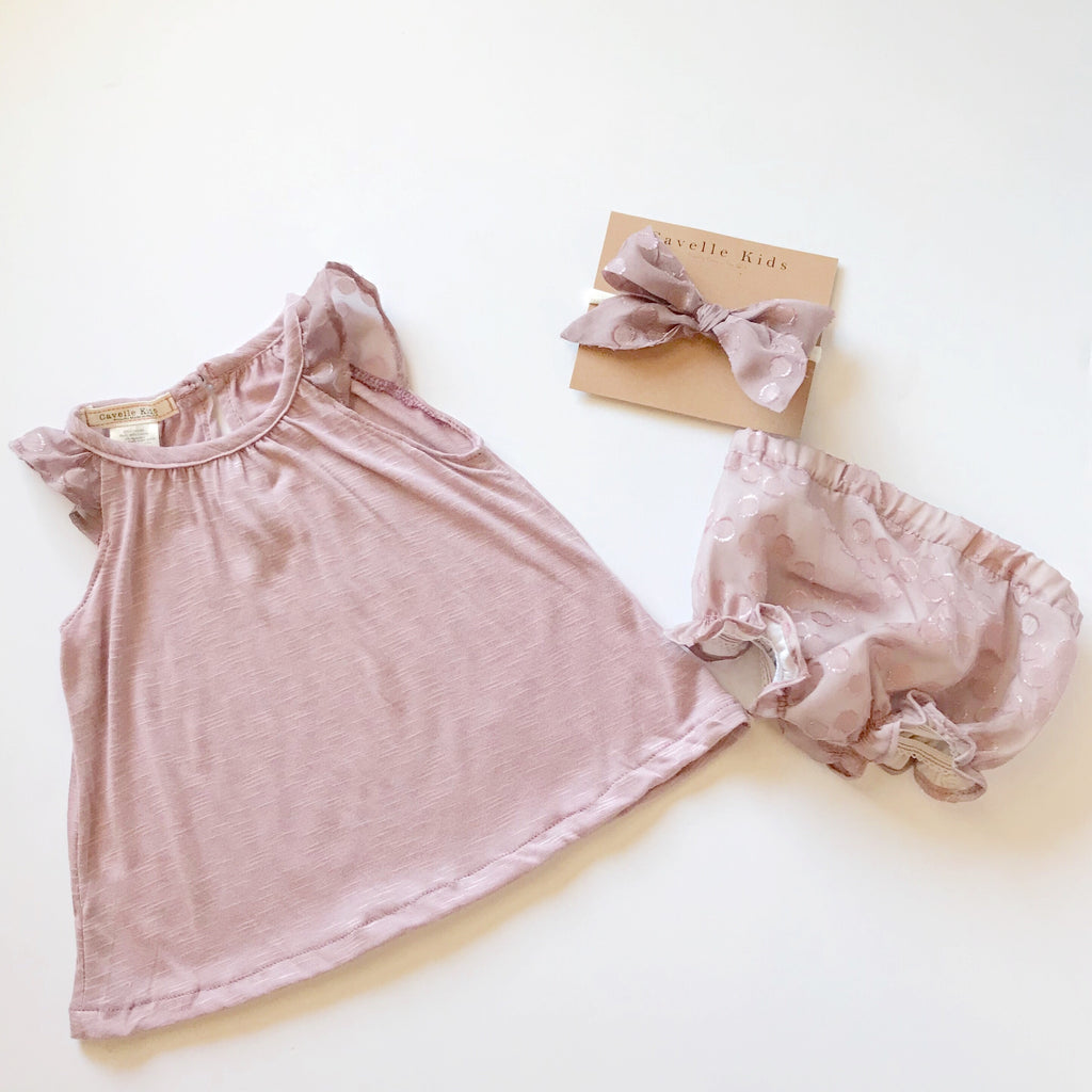 Brynlee Dress and Bloomers in Lilac