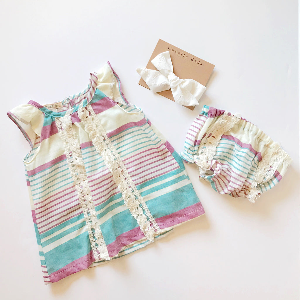 Brynlee Dress and Bloomers in Baja Print