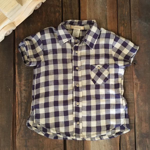 James Button Down Top