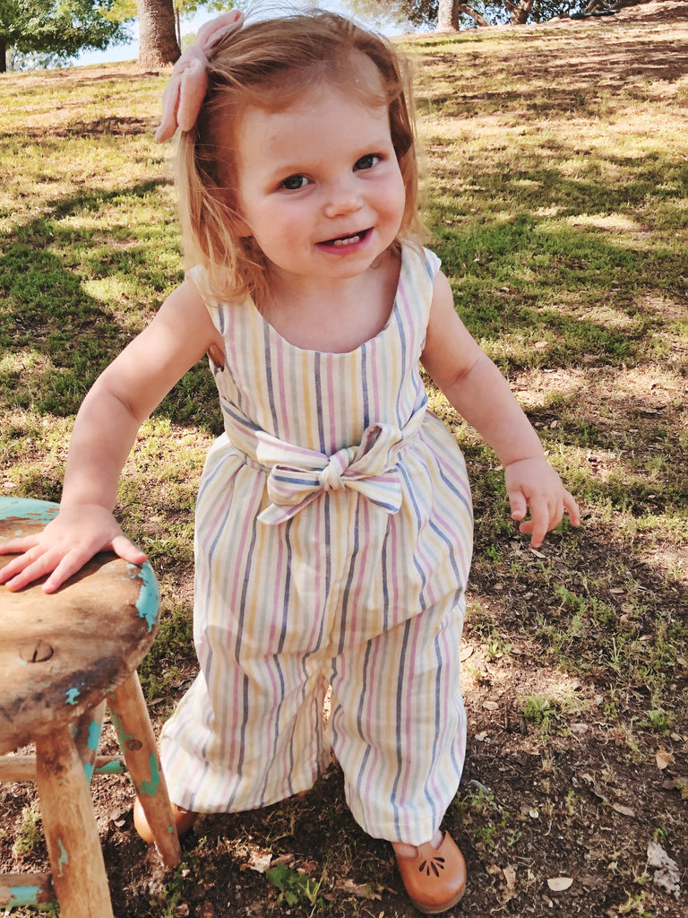 Olivia Romper in Multi Stripe ~ Baby