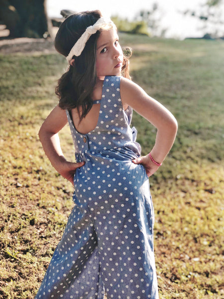 Olivia Romper in Dot ~ Baby