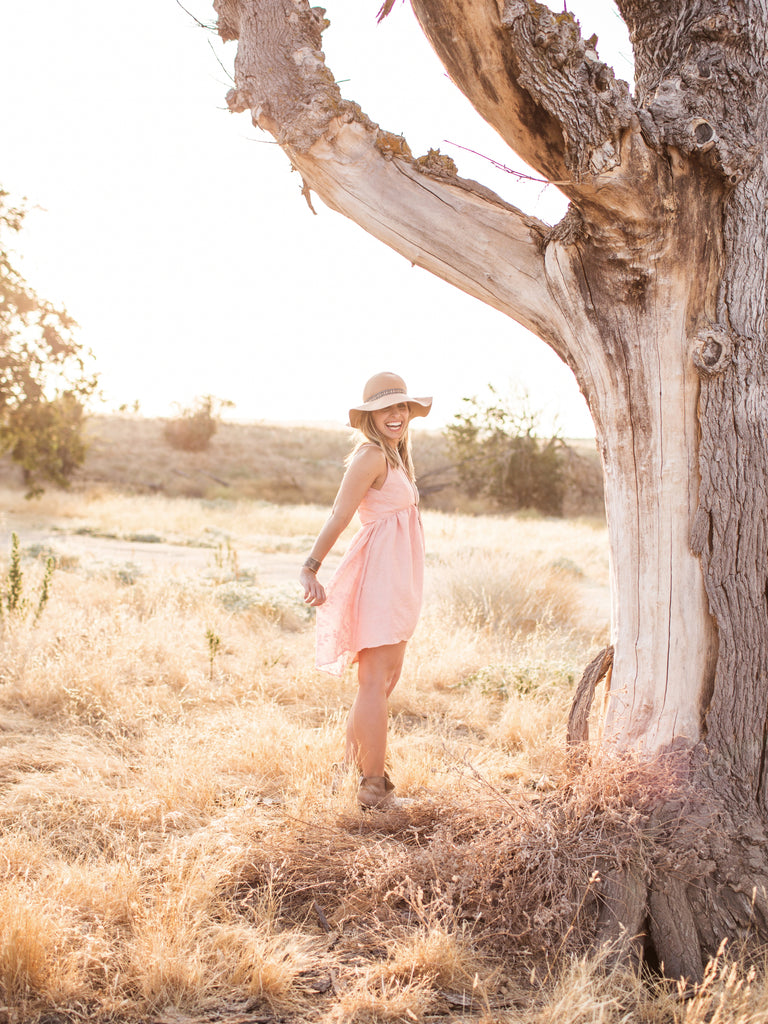 Kennedy Dress in Blush