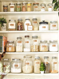 Farmhouse Pantry, Vintage Jars and Free Label Printables