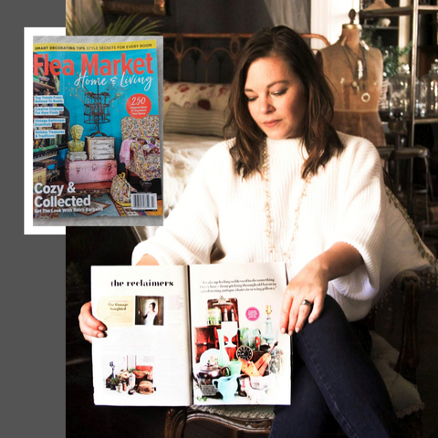 two page feature in Flea Market Home & Living, Fall 2019 issue