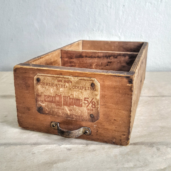 Vintage Divided Wood Drawer