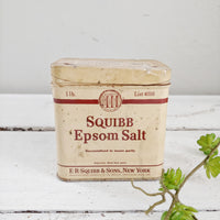 Vintage Epsom Salt Tin Box