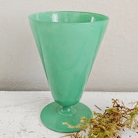Vintage Green Glass Vase