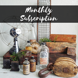 vintage treasures in a monthly subscription