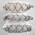FLASH SALE! Lace-Up Ticking Pillow Covers