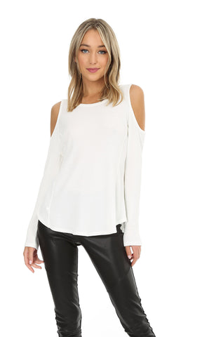 L/S COLD SHOULDER TOP