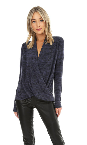 L/S SURPLICE TOP