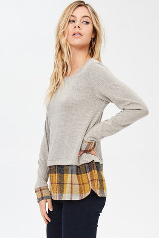 ROSS PLAID TOP