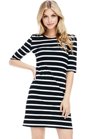 MISS C STRIPE DRESS